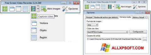 Screenshot Free Screen Video Recorder untuk Windows XP