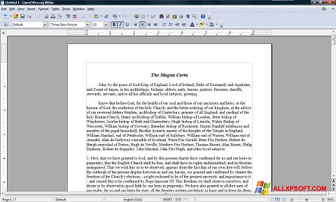 Screenshot OpenOffice untuk Windows XP