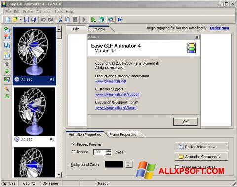 Screenshot Easy GIF Animator untuk Windows XP