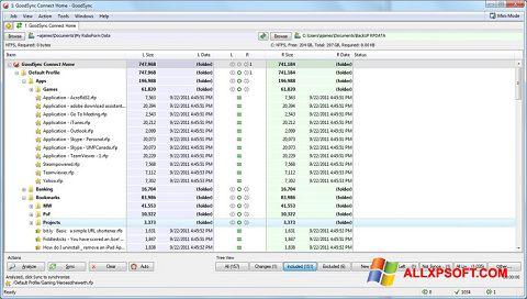 Screenshot GoodSync untuk Windows XP