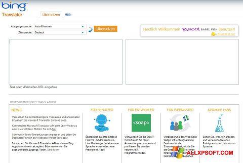 Screenshot Bing Translator untuk Windows XP