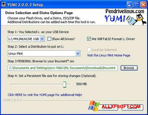 Screenshot YUMI untuk Windows XP