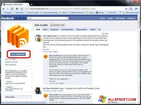 Screenshot Facebook untuk Windows XP