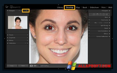 Screenshot Red Eye Remover untuk Windows XP