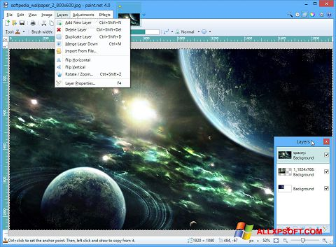 Screenshot Paint.NET untuk Windows XP