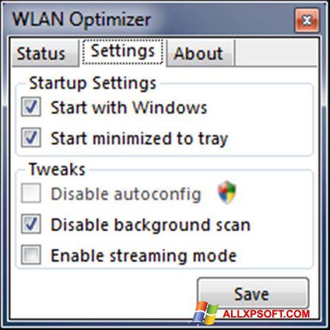 Screenshot WLAN Optimizer untuk Windows XP